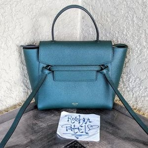 CELINE Calfskin Nano Belt Bag Amazone Green
